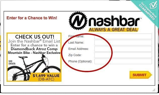 Bike Nashbar Promo Code This coupon works