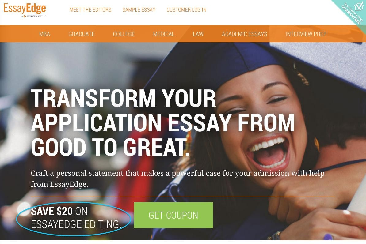 essayedge discount code Essayedgecom offers a voucher code that enables you to get 20 usd off when you hire a essay writer for editing your essay to receive a discount code.
