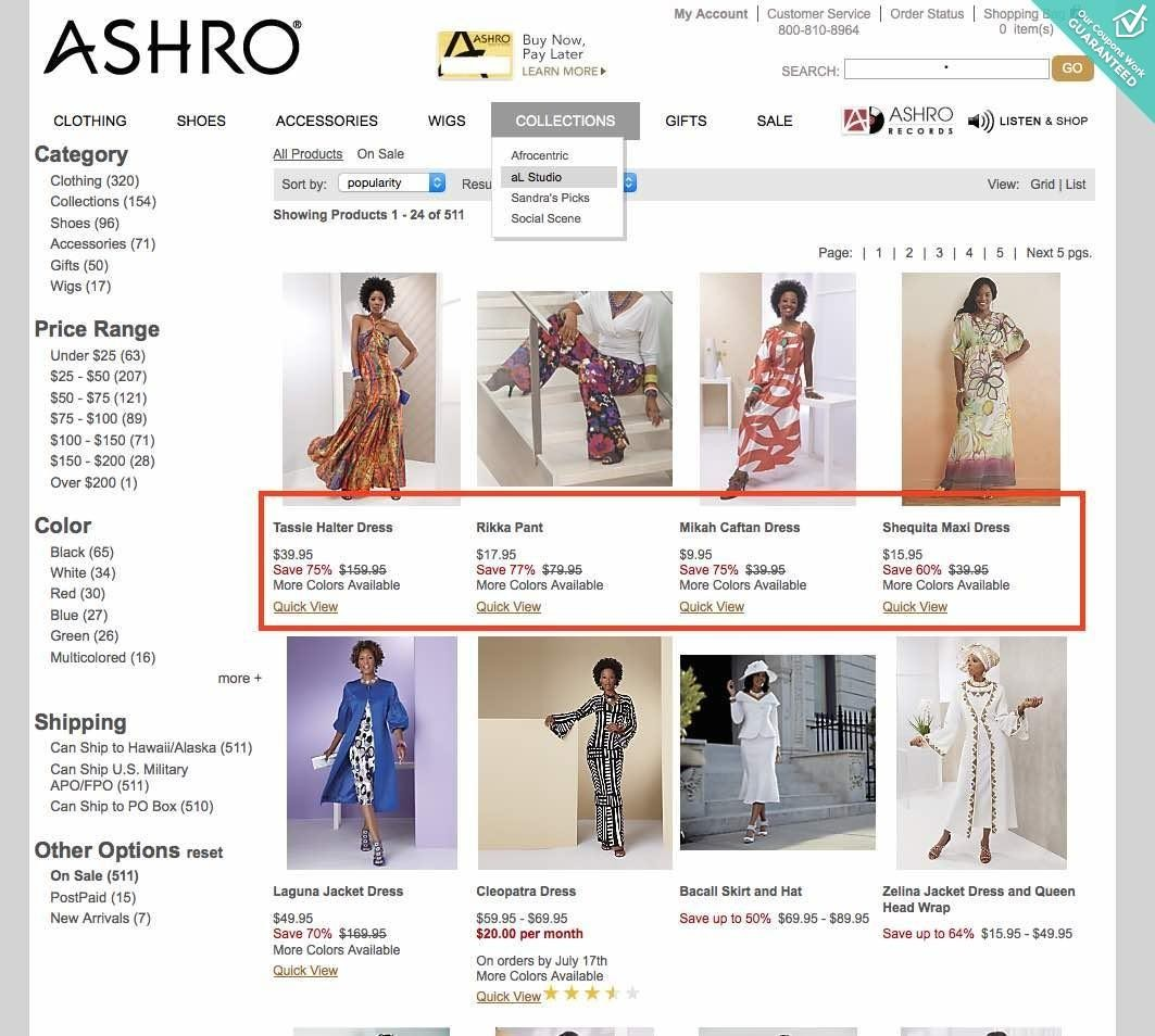 Ashro Fashions Summer 2013 This sale is active