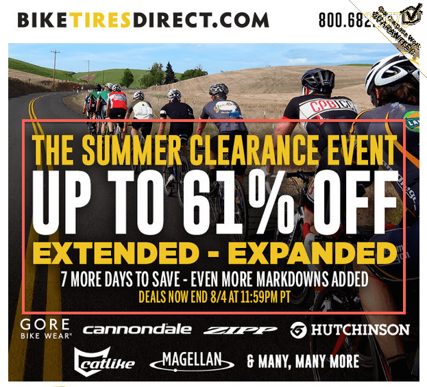 Bike Tires Direct Through today This sale is