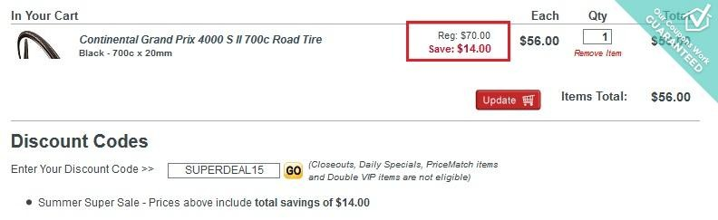 Bike Tires Direct Free Shipping This coupon code works