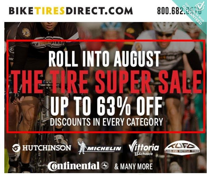 Bike Tires Direct Promo Codes This sale is active