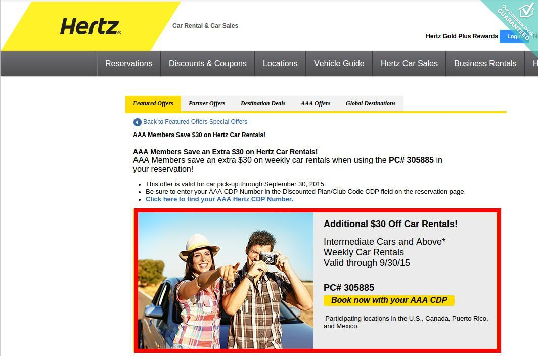 Hertz coupon code aaa