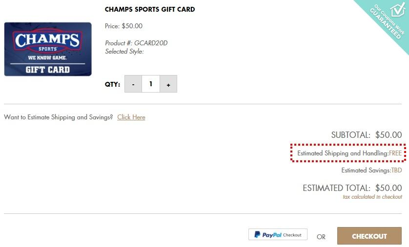 Champs discount coupon
