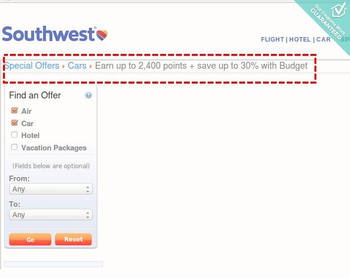 Southwest airlines discount codes coupons