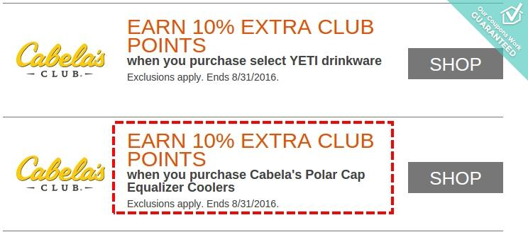 Cabelas coupon codes
