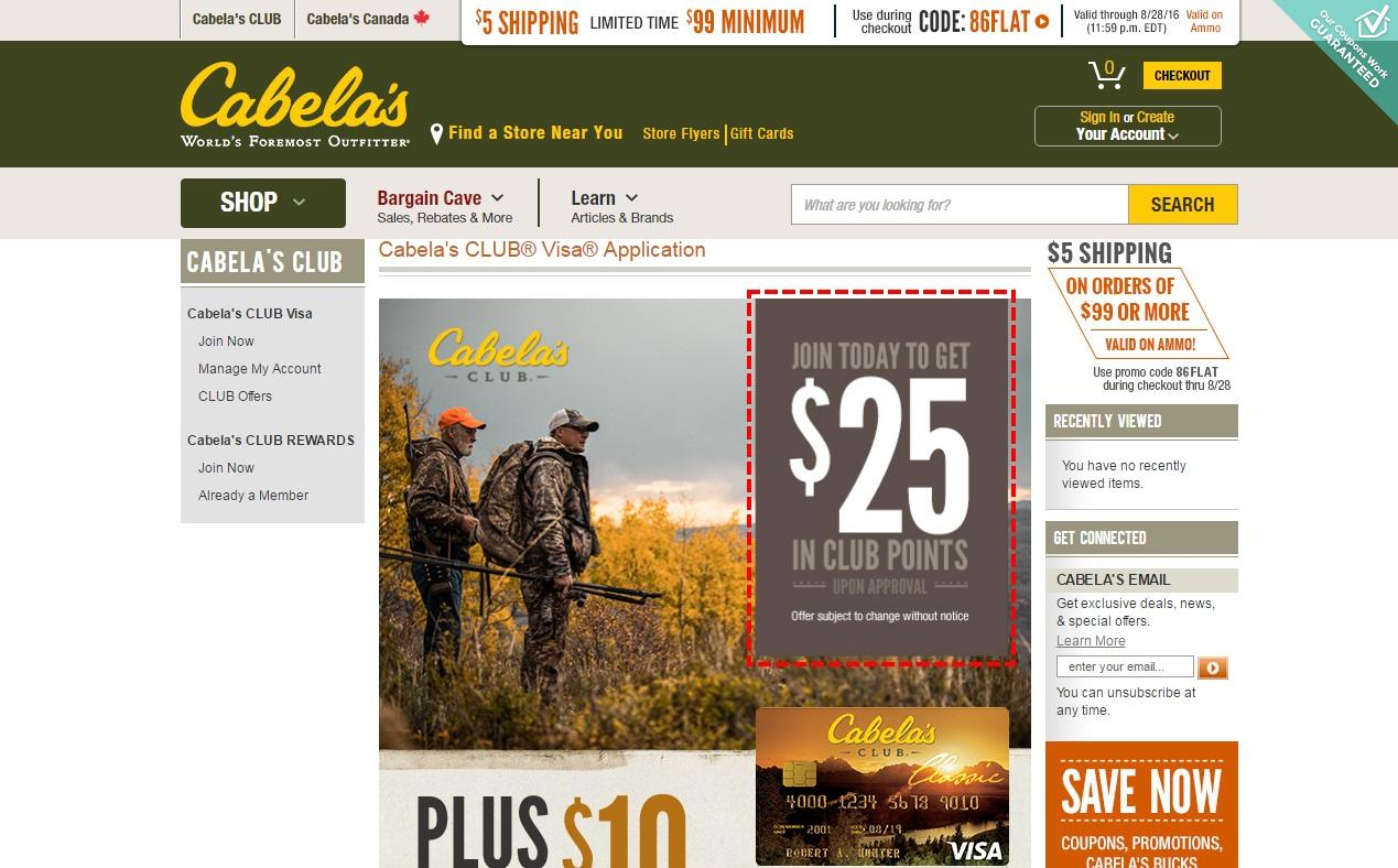 Cabelas coupon code